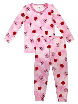 Esme Loungewear Kisses Full Length Set - Esme Loungewear