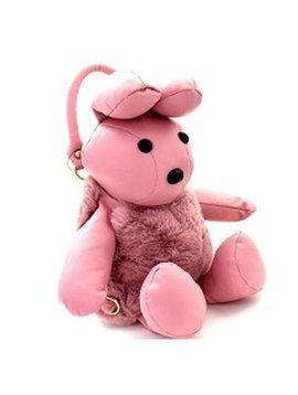 Sugar Bear Furry Pink Bunny Bag