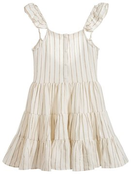 Mayoral Gold Stripe Linen Dress - Mayoral Clothing