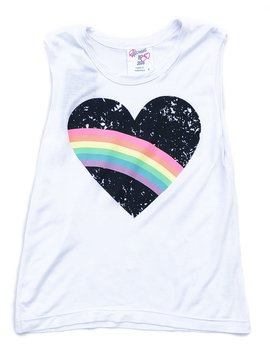 Flowers by Zoe Rainbow Heart Tank Top - Flowers By Zoe