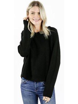 Womens Comfy Pocket Hoodie - Black