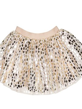 HUXBABY Gold Leopard Tulle Skirt - Huxbaby