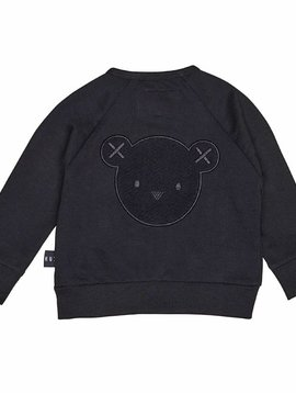 HUXBABY Hux Bear Black Sweat Jacket - Huxbaby