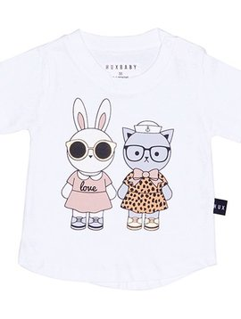 HUXBABY Bunny + Kitty Friends T-Shirt - Huxbaby