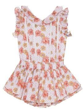 Velveteen Britt Playsuit - Floral Tile - Velveteen Clothing