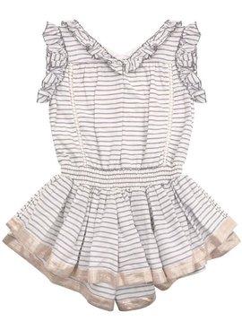 Velveteen Britt Playsuit - Blue Twin Stripe - Velveteen Clothing