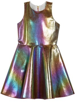 7986b508e07a Zoe Ltd Zoe Ltd - Iridescent Rainbow Foil Pocket Dress