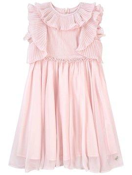 Lili Gaufrette Grace Dress - Pink Chiffon - Lili Gaufrette Clothing
