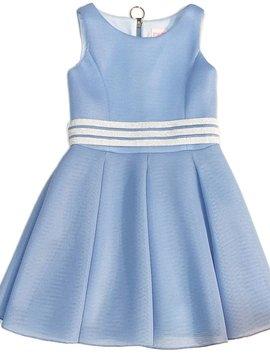 Zoe Ltd Zoe Ltd - Belted Sky Blue Perforated Dress