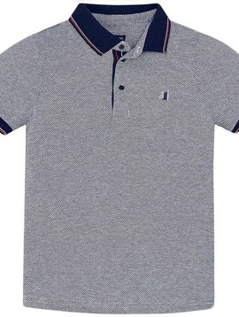 Mayoral White Jacquard Polo - Mayoral Clothing