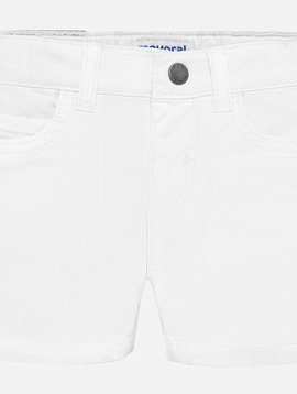 Mayoral Baby White Twill Short - Mayoral Clothing