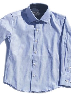 Leo & Zachary Dress Shirt - Blue Mini Stitch - Leo and Zachary