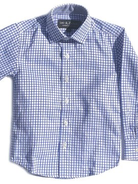 Leo & Zachary Dress Shirt - Royal Window - Leo and Zachary