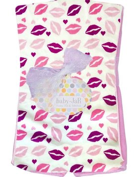 Baby JaR Burp Cloth - Kisses - Baby JaR