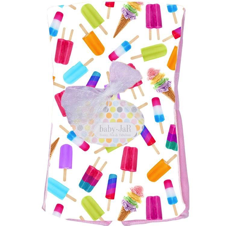 Baby JaR Burp Cloth - Ice Pops - Baby JaR