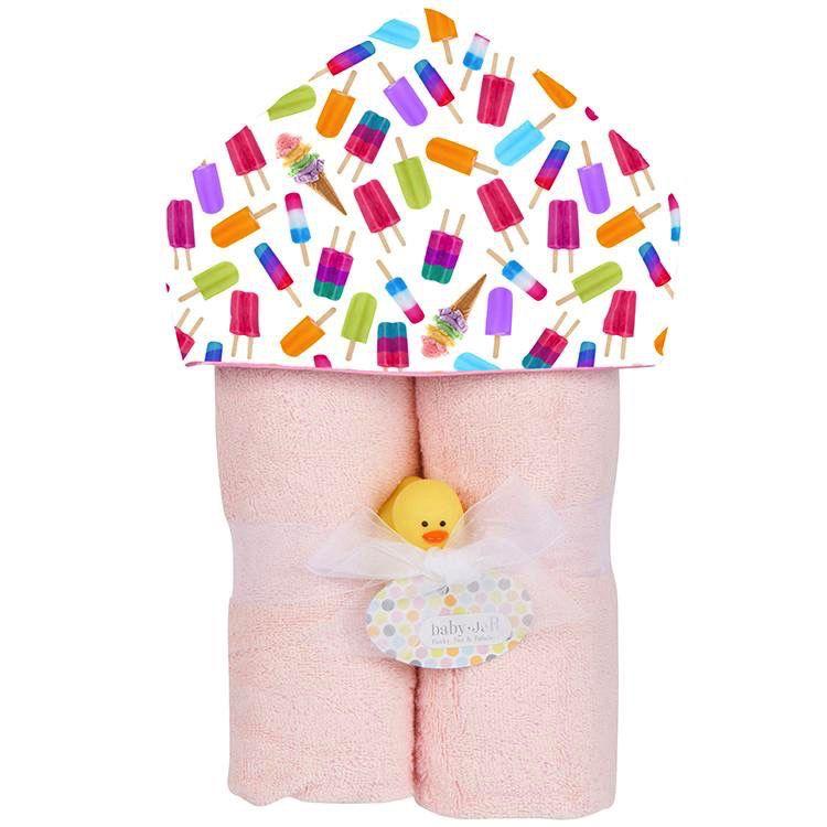 Baby JaR Deluxe Hooded Towel - Ice Pops - Baby JaR