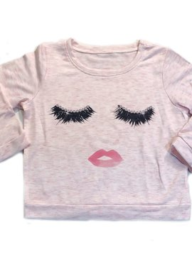 Sugar Bear Eyelash Long Sleeve Top