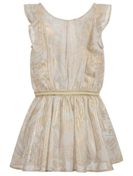 3pommes & B-Karo Pale Gold Chiffon Dress - 3Pommes Kids