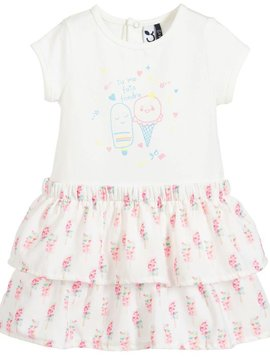 3pommes & B-Karo Ice Cream Chiffon Dress - 3Pommes Kids