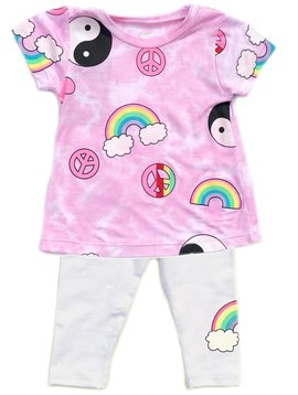 Flowers by Zoe Pink Rainbow Peace Baby Set - Flowers By Zoe