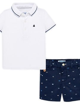 Mayoral Baby Polo Shirt w Shorts - Mayoral