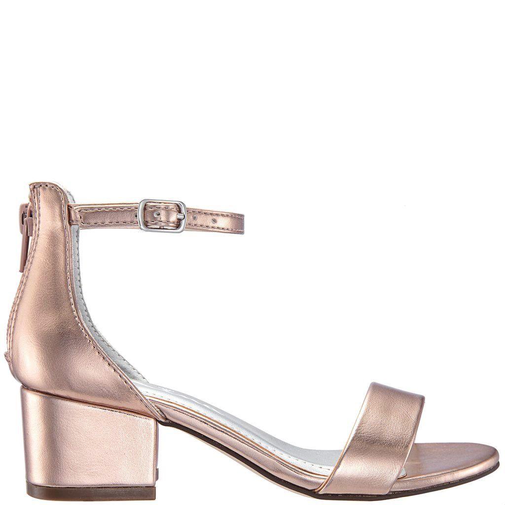Nina Kids Hidi Rose Gold Dressy Sandals