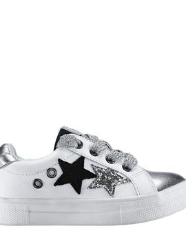 Nina Lizzet Sneaker - White Shimmer - Nina Kids Shoes