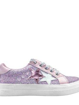 Nina Lizzet Sneaker - Pink Glitter - Nina Kids Shoes