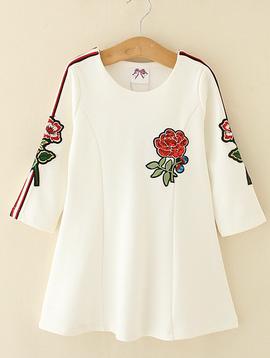 Survolte Floral Racer White Dress