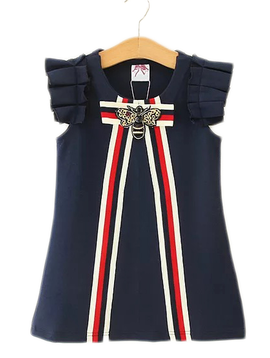 Survolte Navy Ribbon Bow Dress