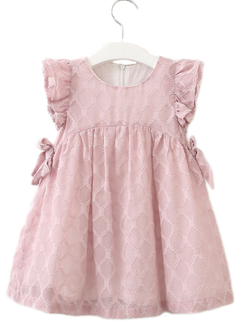 Survolte Ruffle Pink Bow Dress