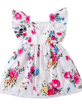 Survolte Floral Ruffle Dress