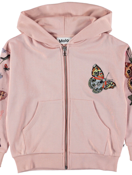 molo Mel Zip Hoodie - Butterfly Stripe - Molo Kids Clothing