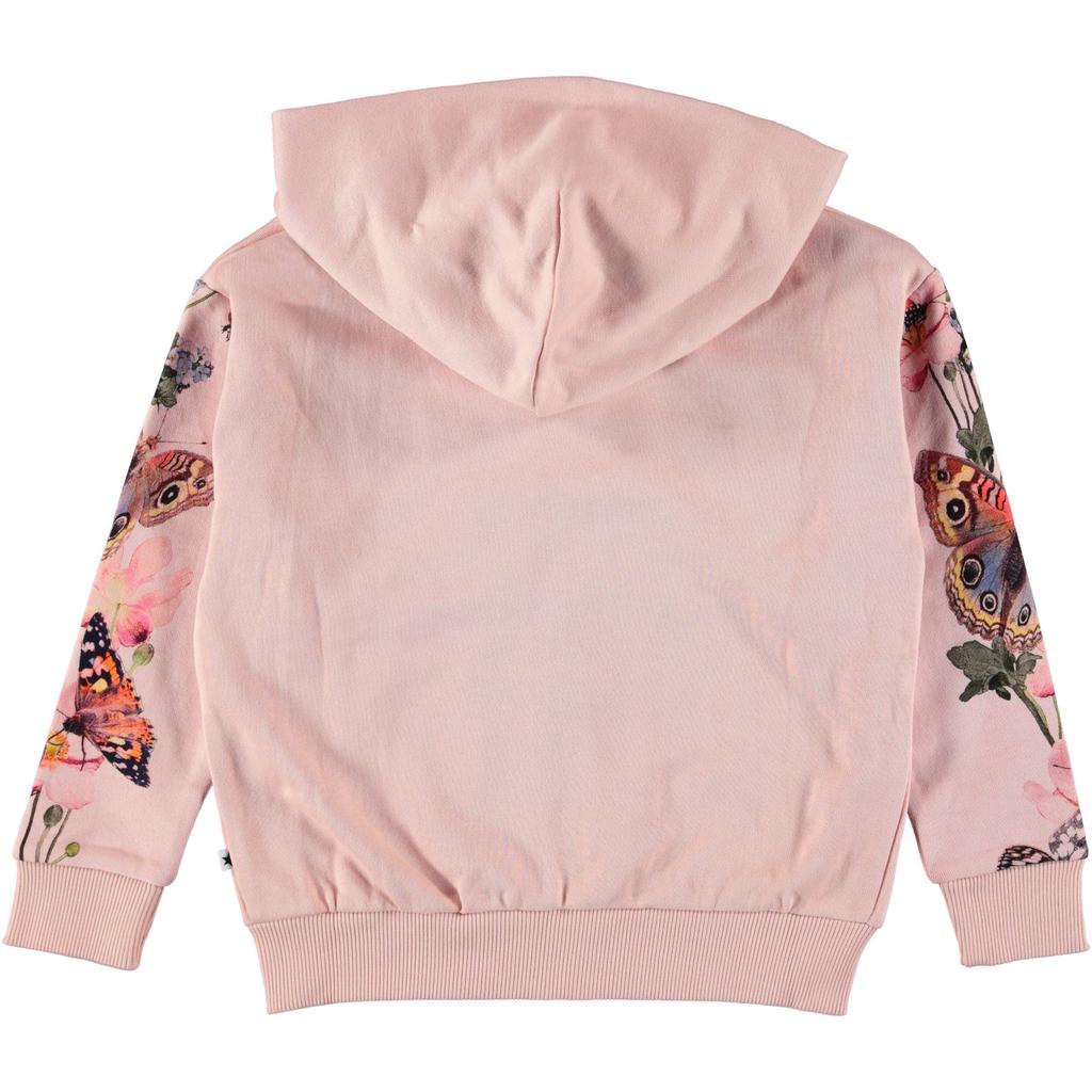 molo Mel Zip Hoodie - Butterfly Stripe - Molo Kids Clothing