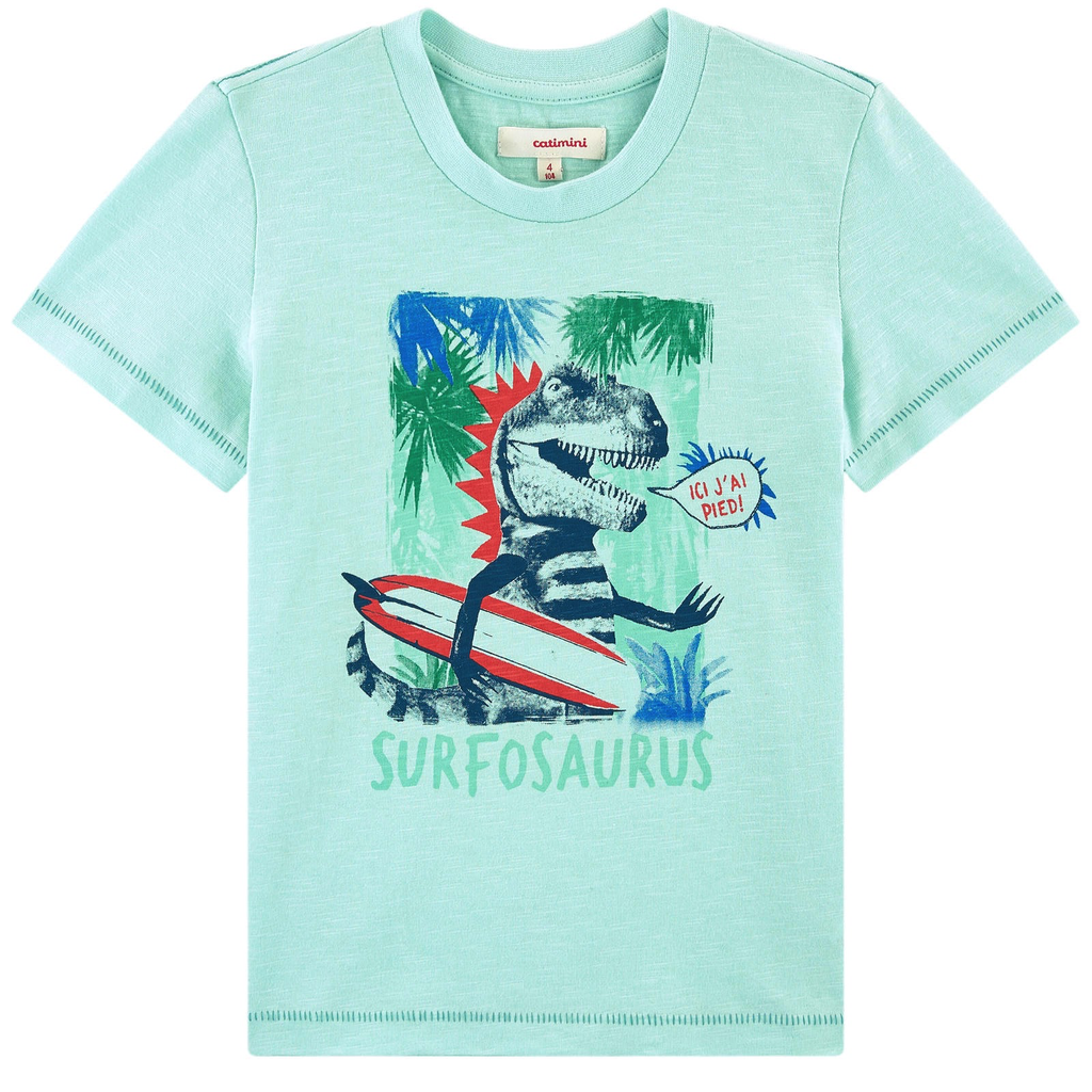 Catimini Dinosaur Surfosaurus Tee - Catimini Kids Clothing