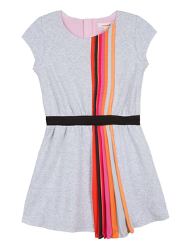 Catimini Rainbow Pleated Jersey Dress - Catimini Kids Clothing