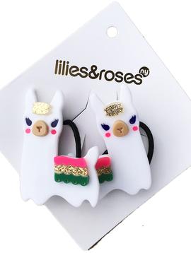Lilies and Roses Ponytail - Llama