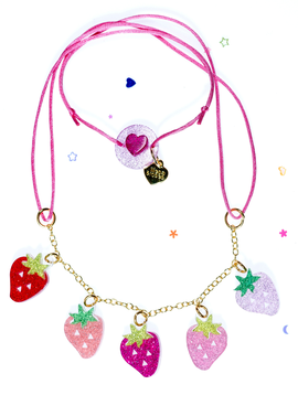 Lilies and Roses Mini Strawberry Necklace - Lilies and Roses