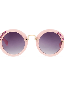 Bari Lynn Pink Crystal Sunglasses - Bari Lynn Accessories