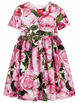 Survolte Pink Peony Floral Dress