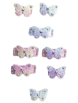 Bari Lynn Glitter Butterfly Crystallized Snap Clip  - Bari Lynn Accessories