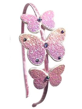 Bari Lynn Headband - Glitter Butterflies - Bari Lynn Accessories