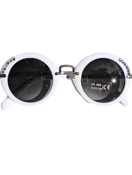 Bari Lynn White Crystal Sunglasses - Bari Lynn Accessories