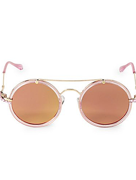 Bari Lynn Pink Crystal Round Sunglasses - Bari Lynn Accessories