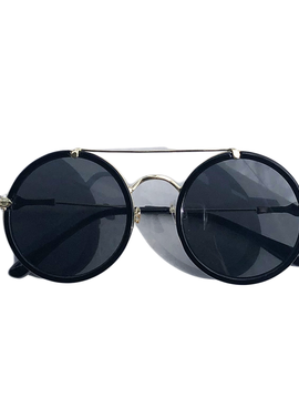 Bari Lynn Black Crystal Round Sunglasses - Bari Lynn Accessories