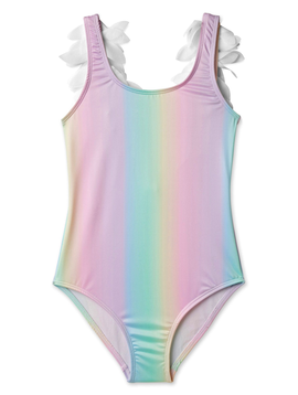 Stella Cove White Petal Rainbow Swimsuit - Stella Cove Swimwear