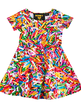 Romey Loves Lulu Skater Dress - Rainbow Sprinkles - Romey Loves Lulu