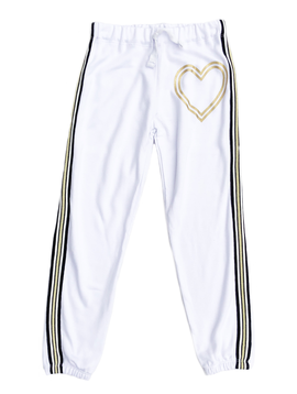 Flowers by Zoe Heart Lines White Sweatpant - Flowers By Zoe