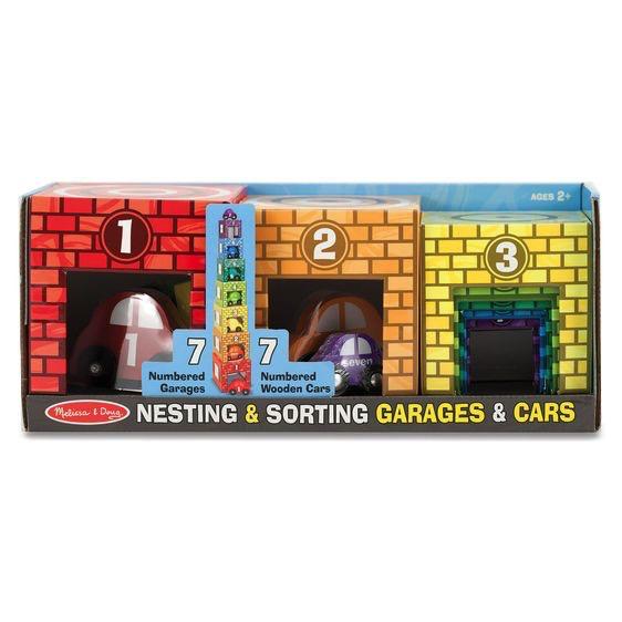 Melissa and Doug Nesting & Sorting Garages & Cars - Melissa and Doug