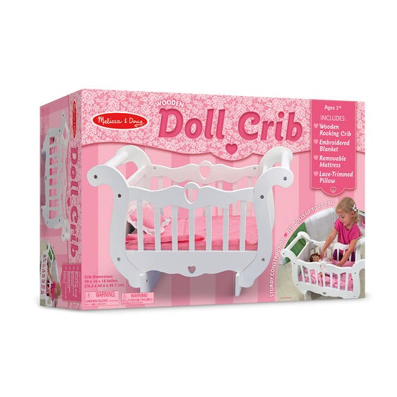 Melissa and Doug Wooden Doll Crib - Melissa and Doug